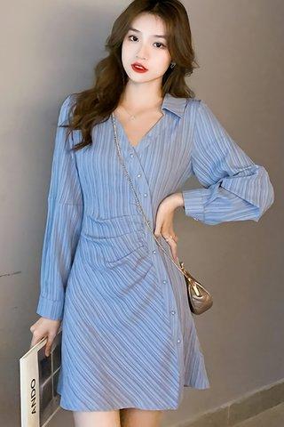BACKORDER - Maisha Collar Ruched Dress