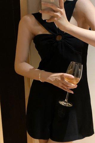 BACKORDER - Maya O-Ring Romper In Black