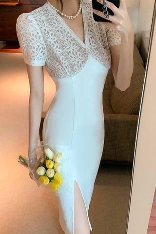 BACKORDER - Olivia V-Neck Floral Slit Dress