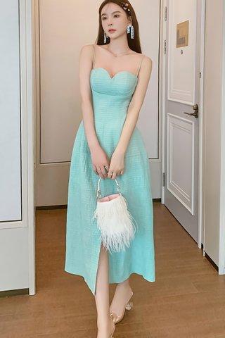 BACKORDER - Quinn Bustier Textured Slit Dress