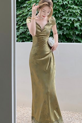BACKORDER - Agnesa Bareback Lace Hem Dress