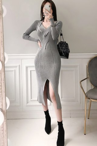 BACKORDER - Alarie Criss Cross Knit Dress