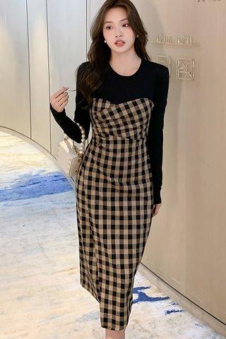 BACKORDER - Alensa Checkered Dress