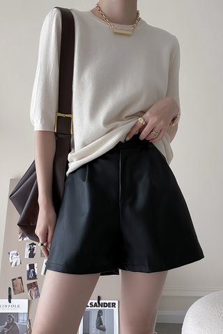 BACKORDER - Alise PU High Waist Short In Black