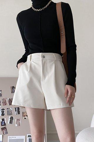 BACKORDER - Alise PU High Waist Short In Cream