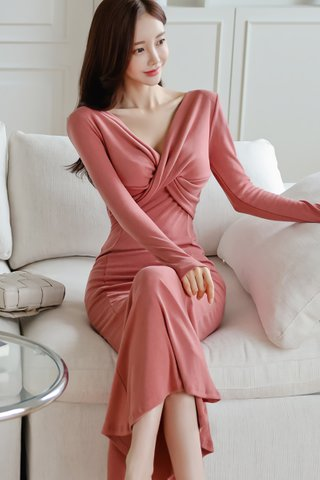 BACKORDER - Brionna Front Twist Dress