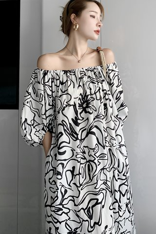 BACKORDER - Chery Abstract Oversized Dress