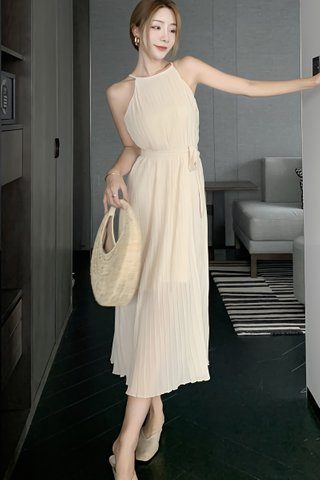 BACKORDER - Falyn Pleat Waist Tie Dress