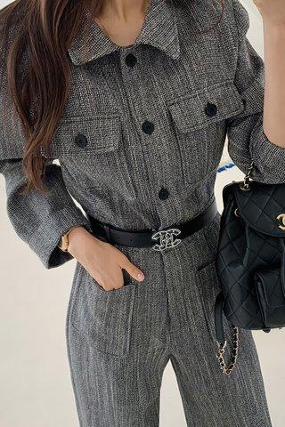 BACKORDER - Feronica Collar Sleeve Jumpsuit