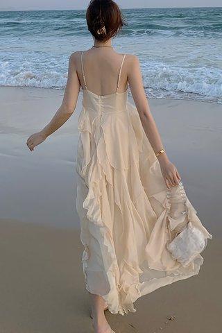 BACKORDER - Jamie Ruffle Overlay Dress