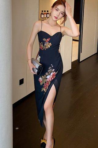 BACKORDER - Josephine Floral Side Slit Dress