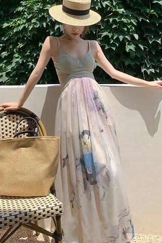 BACKORDER - Josie Cut Out Mesh Overlay Dress
