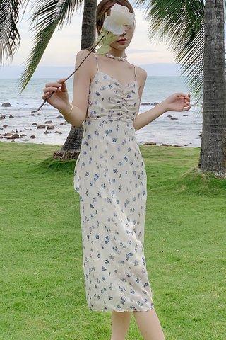 BACKORDER - Kalista Floral Back Tie Dress