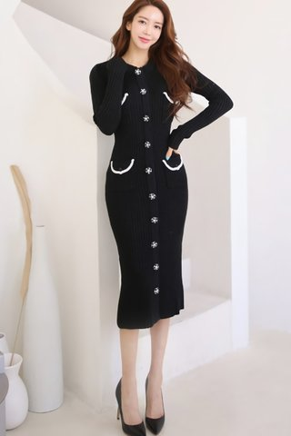 BACKORDER - Kaslyn Single Breasted Knit Dress