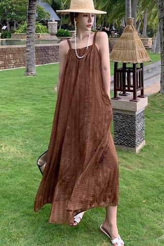 BACKORDER - Kerith Crinkled Maxi Dress