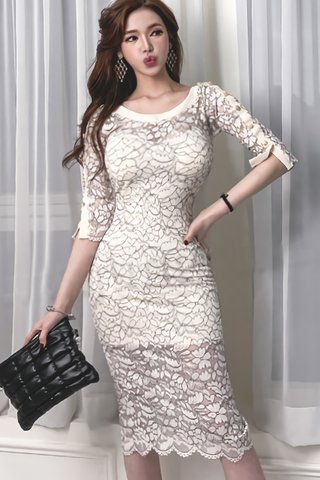 BACKORDER - Laurelle Lace Overlay Dress