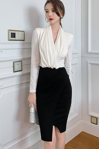 BACKORDER - Lynica Asymmetrical Hem Dress