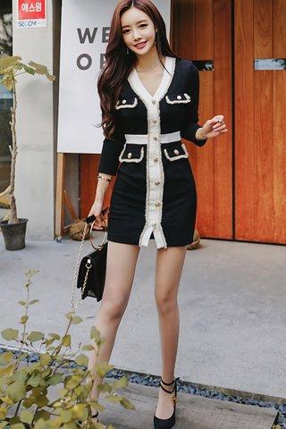 BACKORDER - Talia Sleeve Mini Dress In Black