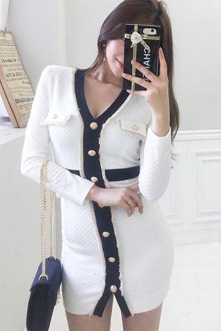 BACKORDER - Talia Sleeve Mini Dress In White