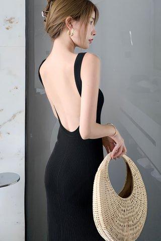 BACKORDER - Tavia U-Back Knit Dress In Black