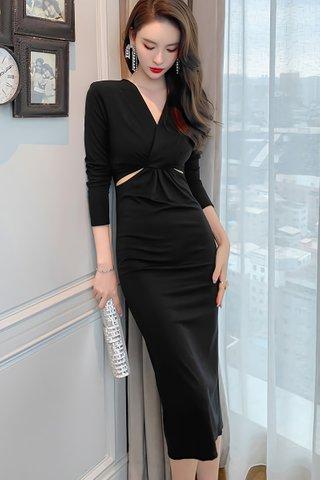 BACKORDER - Viane Sleeve Cutout Dress