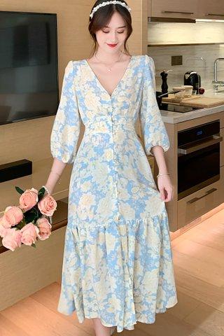 BACKORDER - Zelda Floral V-Neck Dress