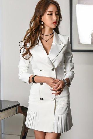 BACKORDER - Ellisa Double Breasted Mini Dress In White