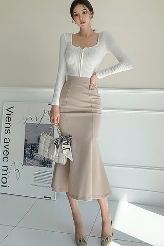 BACKORDER - Florence Sleeve Top With Skirt Set