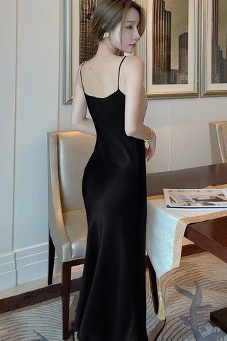 BACKORDER - Jalene Cowl Neck Dress In Black