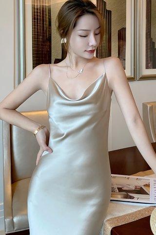 BACKORDER - Jalene Cowl Neck Dress In Champagne