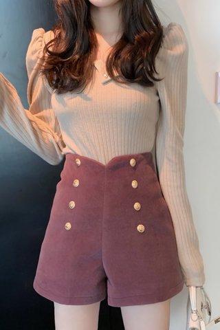 BACKORDER - Jayla Double Breasted Short In Purple