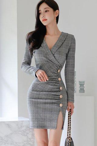 BACKORDER - Nalie Side Slit Mini Dress
