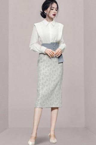 BACKORDER - Shauna Pinstripe Top With Floral Skirt Set